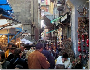 The market of Sancregorio in Naples is all too famous for great food and great bargains