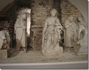The awe of the nativity - one of the oldest ever made at Santa Maria Maggiore Church, Rome