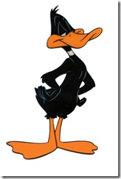 Daffy Duck, the daffiest duck to be shown in Italy