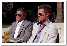 George Clooney and Brad Pitt in Venice